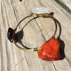 Rock wire bracelet